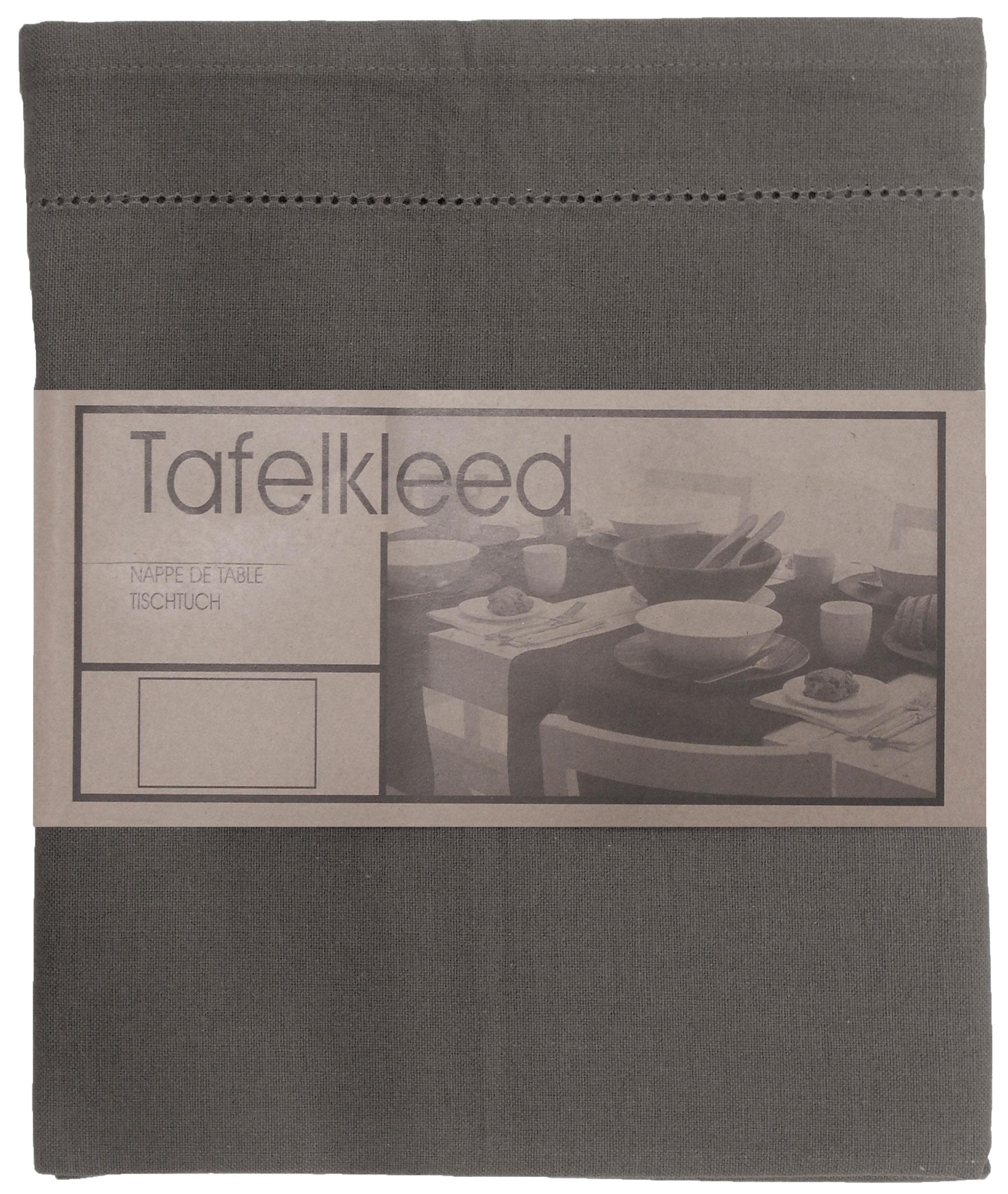 tafelkleed Ajour 150x250 cm donker grijs