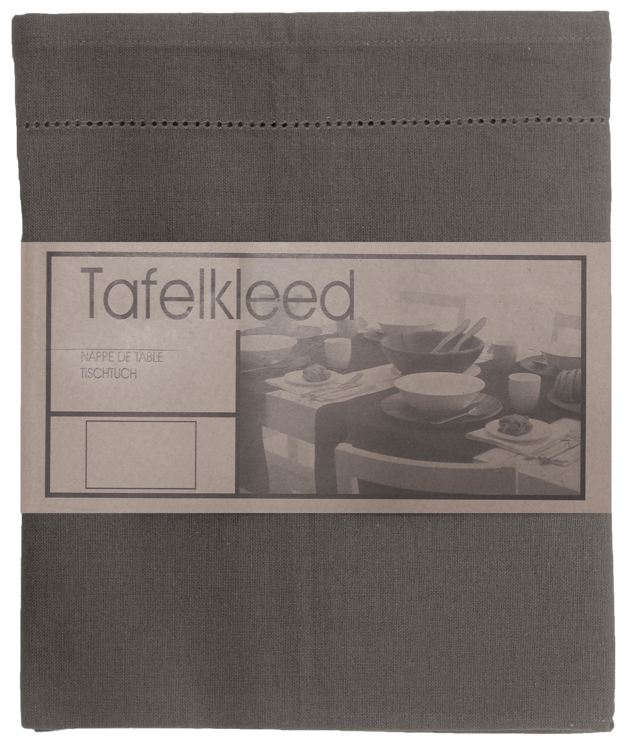 tafelkleed Ajour 150x300 cm donker grijs