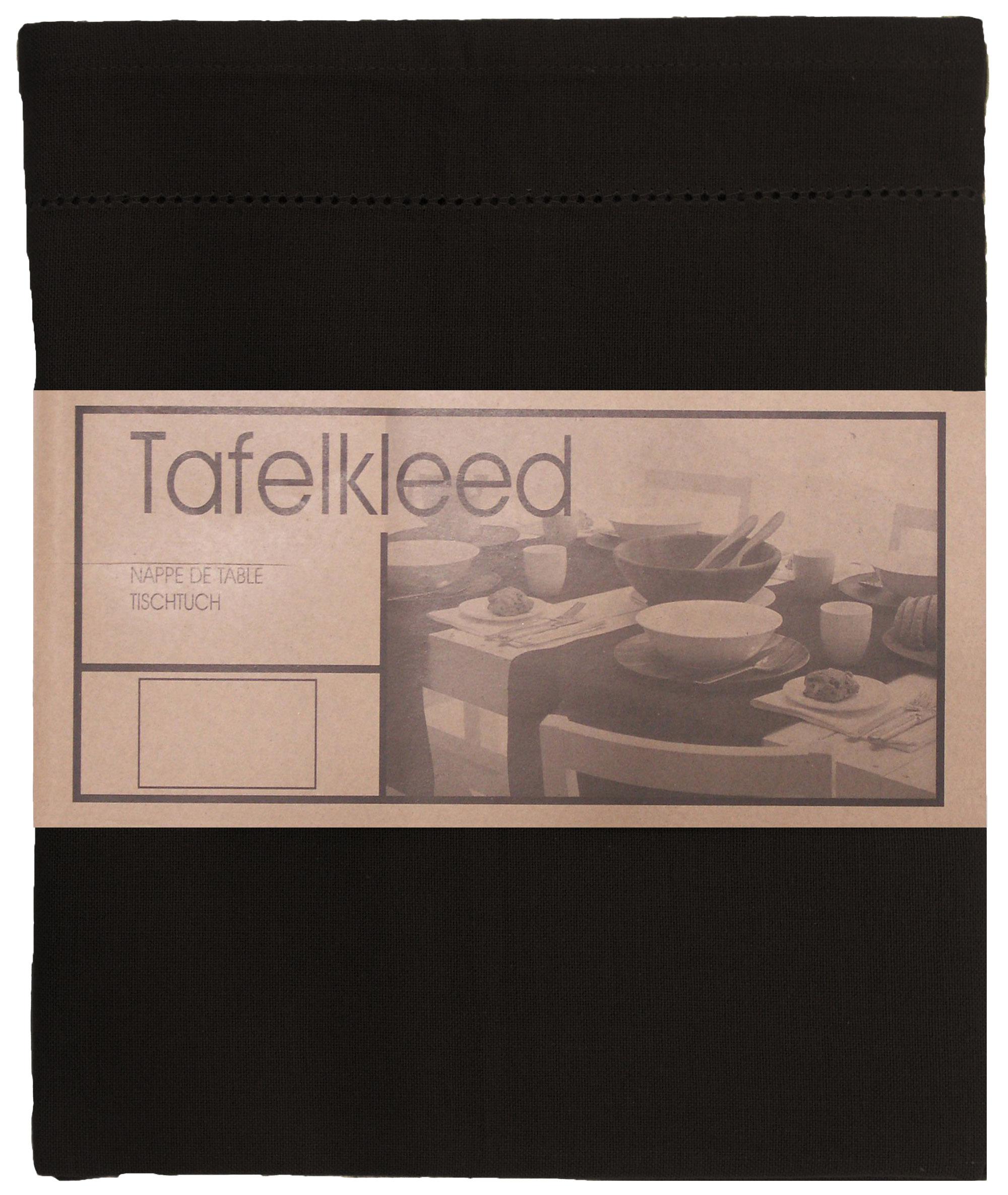 tafelkleed Ajour 150x300 cm zwart