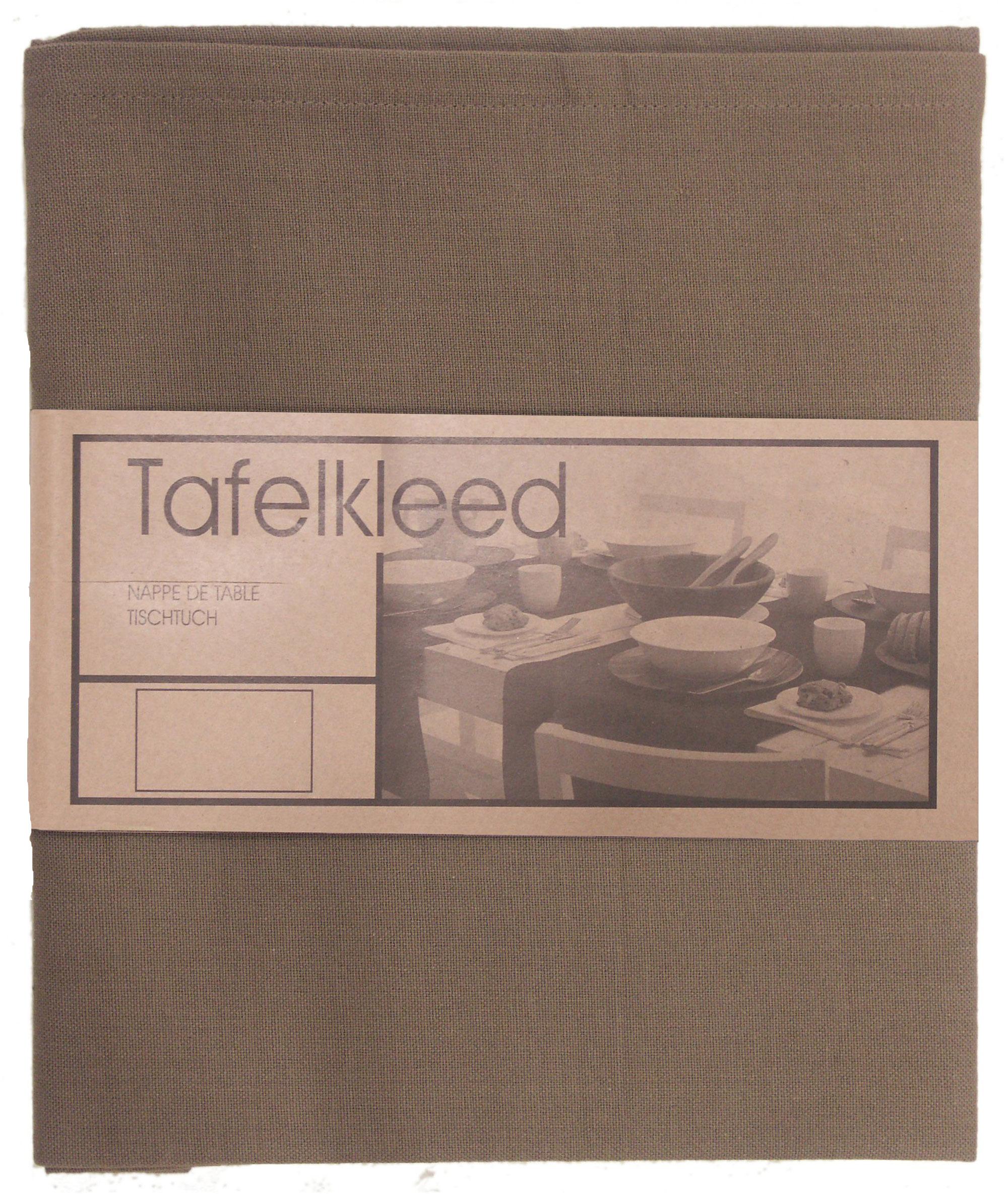 tafelkleed Brugge 100x100 cm taupe