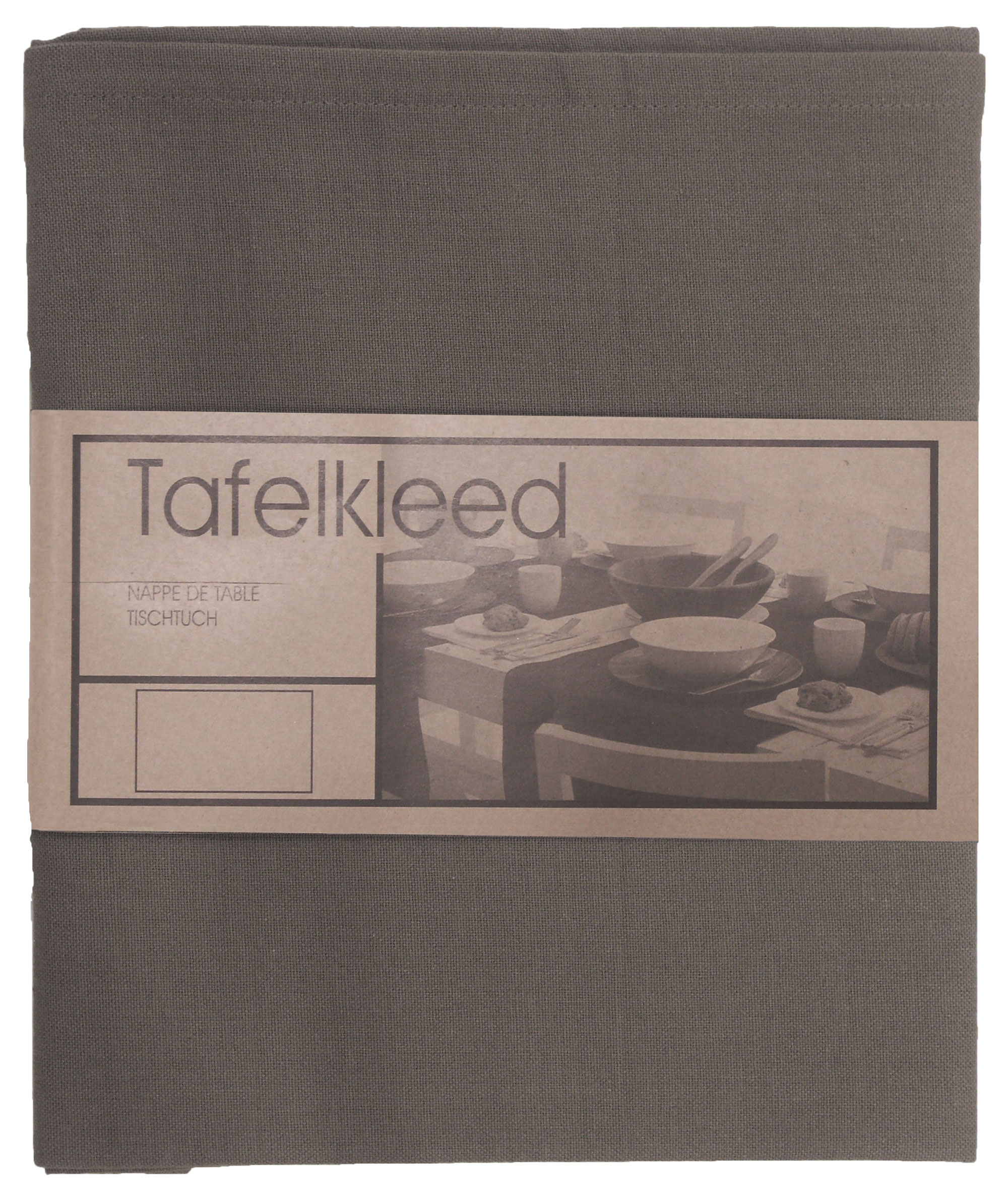 Tafelkleed Brugge 200x200 cm donker grijs