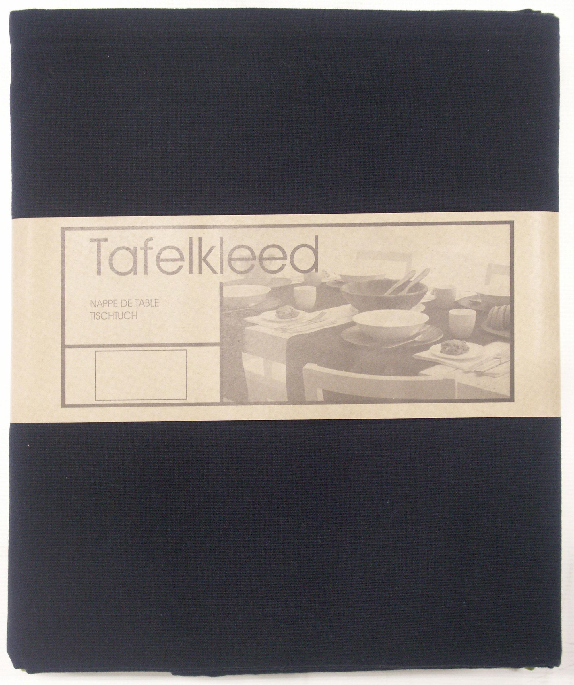 tafelkleed Brugge 150x300 cm zwart